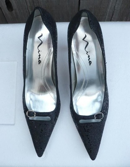 Nina Shoes Shimmeing Black Pumps Image 1