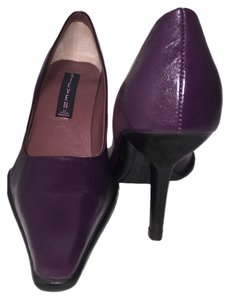Steven by Steve Madden Classic Slip On Heels Leather Purple Pumps