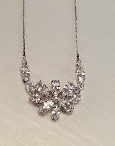 Bridal Marquise Cubic Zirconia Necklace