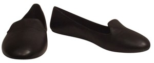 Vince Camuto Leather Slip Ons Comfortable Black Flats