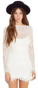 For Love & Lemons short dress Ivory Lace Sleeve Lace on Tradesy