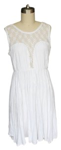 Free People short dress White Back Sleeveless Crochet on Tradesy