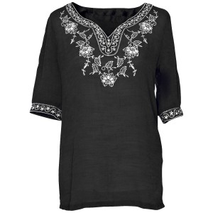 Other Embroidered Top Black