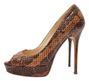 Jimmy Choo Sexy Pumps Brown Platforms