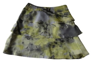 The Limited Mini Skirt Gray/Lime green