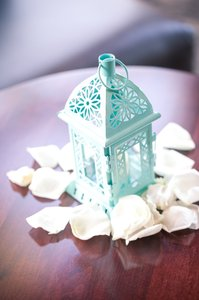 Kate Aspen Tiffany Blue Mini Lantern Centerpiece