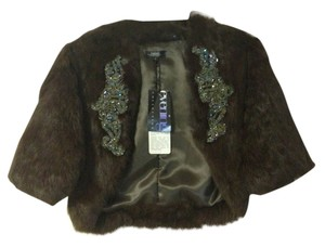 Shine Rabbit Fur Coat brown Jacket