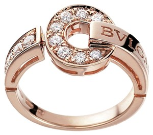 BVLGARI Bvlgari 18K Rose Gold Diamond Ring AN855854 US 7
