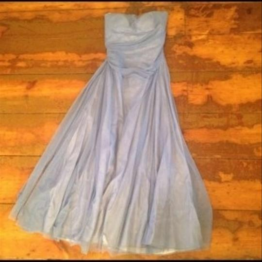 "Vera Wang Blue ""bluebell"" Style # 15m16 ""dolores"" Dress"