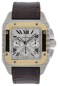 Cartier Cartier Santos 100 Chronograph Steel & Yellow Gold Watch W20091X7