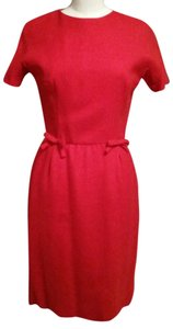 Bonwit Teller short dress red on Tradesy