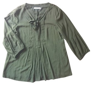 Old Navy Peasant Boho Vintage Top Green
