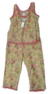 Crabtree & Evelyn Pajamas Ruffle Pajamas Pajama Sets Top Yellow