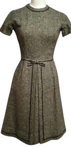 Bonwit Teller short dress Grey tweed with rick rack trim on Tradesy