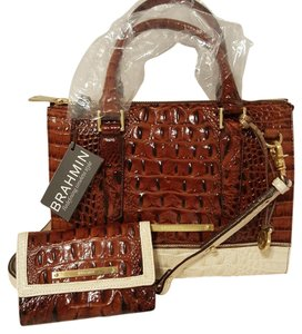 Brahmin Satchel Wallet Cross Body Bag