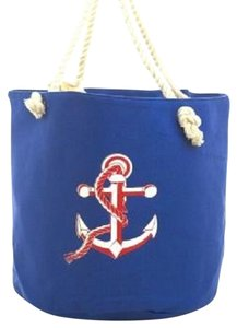 Tote in Blue , White, Red