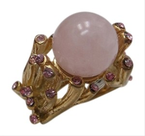 Other Rose Quartz Gemstone Fashion Ring Size 6 w Free Shipping
