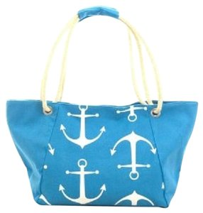 Other Tote in Sky Blue , White