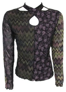 ANAC By Kimi Crossover Mesh Long Sleeve T Shirt Multi