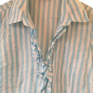Lilly Pulitzer Button Down Shirt Blue/white stripes