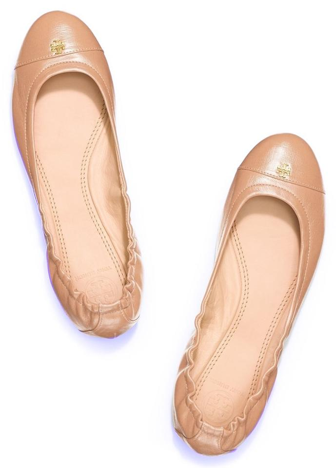 Tory Nude Burch Camellia Pink - Nude Tory York Ballet Leather Flats 4f3995