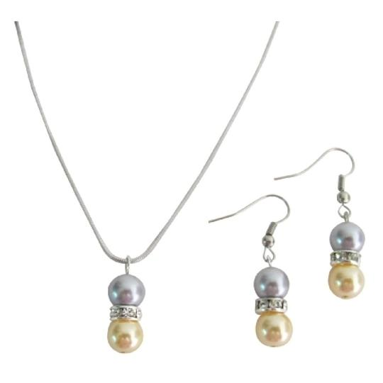 Preload https://item3.tradesy.com/images/gray-and-yellow-drop-down-pearl-pendant-earrings-pearl-jewelry-set-1495012-0-0.jpg?width=440&height=440