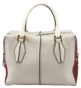 Tod's D Cube Satchel Leather Suede Hobo Bag