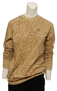 Enyce Leopard Neutral Long Sleeve T Shirt Tan and Brown