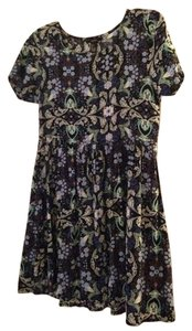 Forever 21 short dress Blue and Black Babydoll Floral on Tradesy