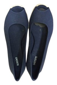 Lacoste Wedge Canvas Size 9.5 Navy Wedges