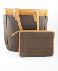 Céline Clutch Monogram Tote in Macadam Brown