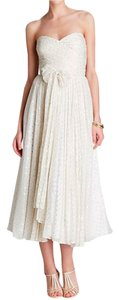 Jill Stuart Tea Length Prom Polka Dot Sweetheart Strapless Dress