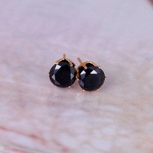 Cubic Zirconia gold plated stud earrings