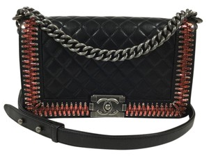 Chanel Boy Medium Embellished Leather Shoulder Bag