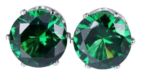 Preload https://item2.tradesy.com/images/green-cubic-zirconia-gold-plated-stud-earrings-1495131-0-0.jpg?width=440&height=440