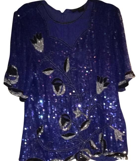 Other Top Blue, Black, Silver