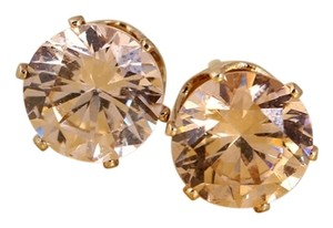 Other champagne Cubic Zirconia gold plated stud earrings