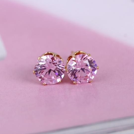 Preload https://item2.tradesy.com/images/pink-cubic-zirconia-gold-plated-stud-earrings-1495146-0-0.jpg?width=440&height=440