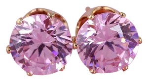 Other Pink Cubic Zirconia gold plated stud earrings