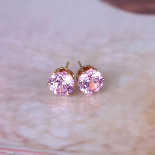 Other Pink Cubic Zirconia gold plated stud earrings Image 1