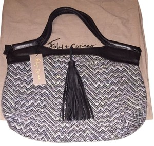 Foley + Corinna Satchel in Black, Gray, Multi Color Tweed