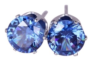 Cubic Zirconia white gold plated stud earrings