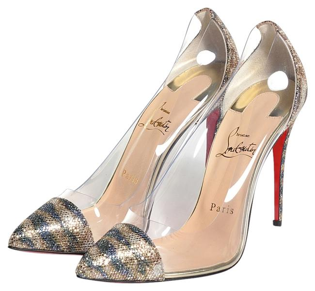 Item - Silver Clear Gold Pvc Debout Pointed-toe Pumps Size US 5.5 Regular (M, B)