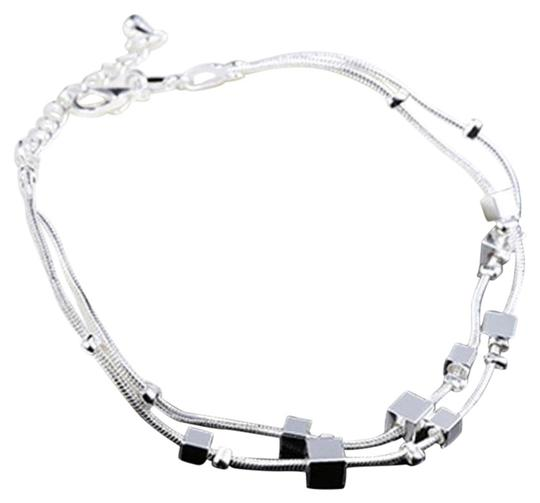 Other Women'S Fashion Sterling Silver Cuff Charm Chain Bracelet Jewelry