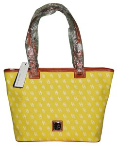 Dooney & Bourke Gretta And Cotton Tote in Yellow & White