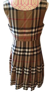 Burberry London short dress Burberry iconic check brown on Tradesy