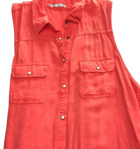 Maurices Button Down Shirt Red/orange... Beautiful color