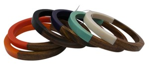 Other Set of 6 Wood Bangles with Multicolor & Free Shipping
