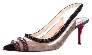 Christian Louboutin Spike Pointed Toe Manovra 70 Studded Black, Grey Pumps