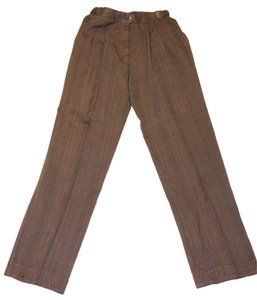 Counterparts Brown Slacks Trouser Pants Brown, red, gold, green